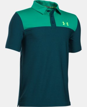 Boys' UA Match Play Blocked Polo   5 Colors $29.99