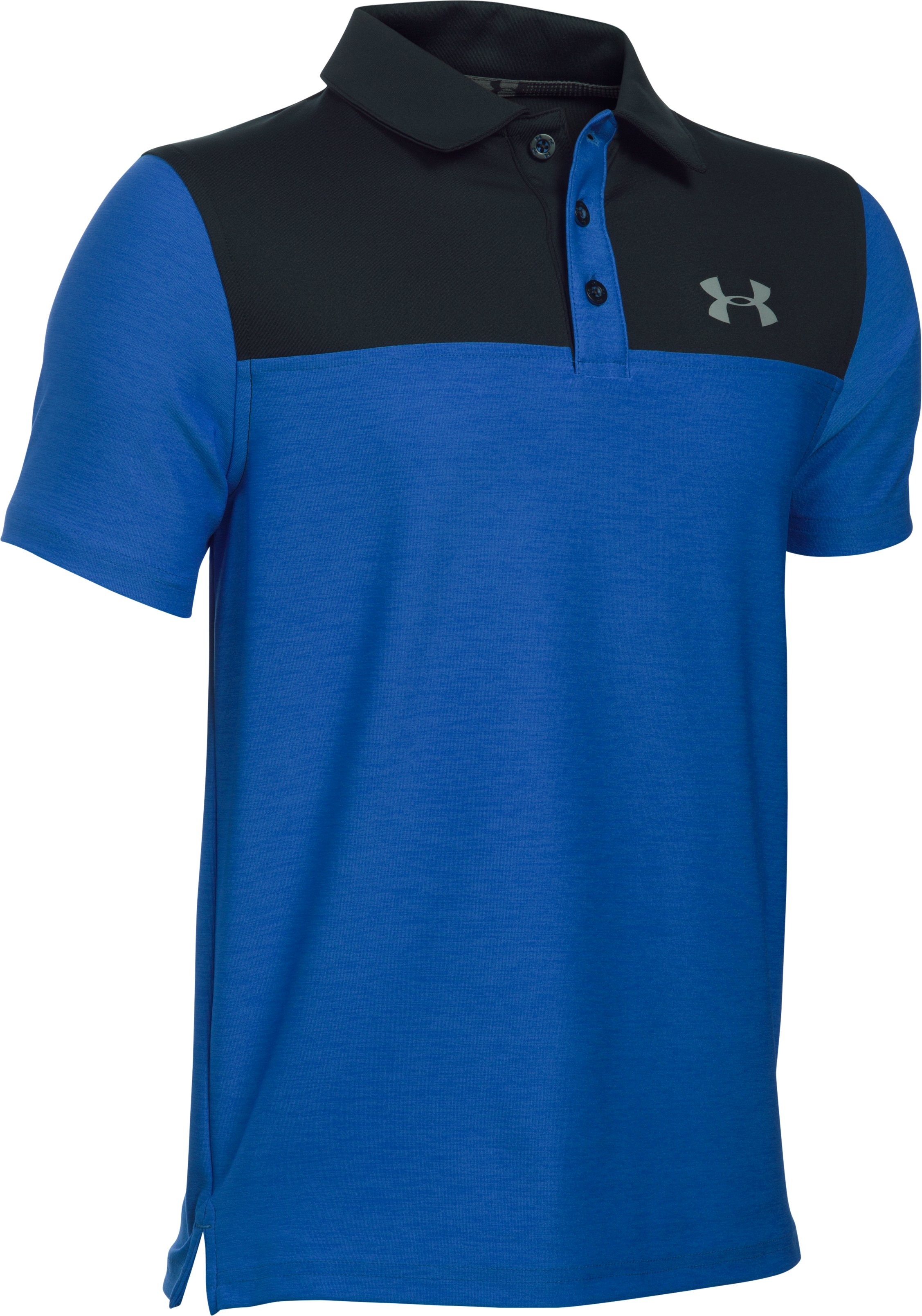 Boys' UA Match Play Blocked Polo , ULTRA BLUE