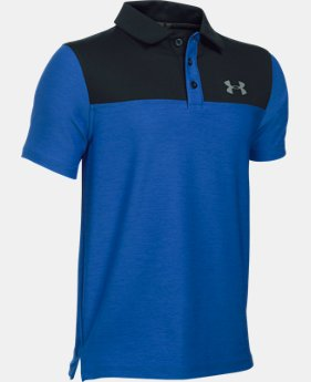 Boys' UA Match Play Blocked Polo  LIMITED TIME: FREE SHIPPING 1 Color $29.99