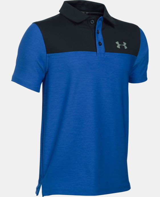 Boys' UA Match Play Blocked Polo  LIMITED TIME: FREE U.S. SHIPPING 2 Colors $20.24 to $26.99