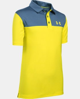 Boys' UA Match Play Blocked Polo   $26.99