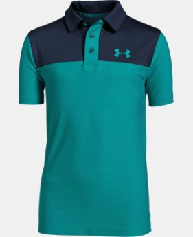 Boys' UA Match Play Blocked Polo  1 Color $29.99
