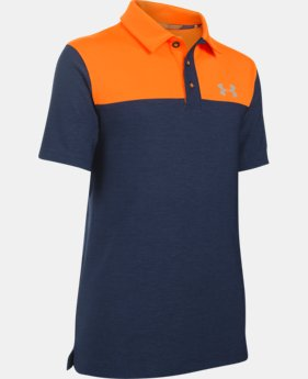 Boys' UA Match Play Blocked Polo  LIMITED TIME: FREE U.S. SHIPPING 1 Color $20.24 to $26.99