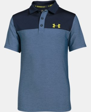 New Arrival  Boys' UA Match Play Blocked Polo  LIMITED TIME: FREE SHIPPING 2 Colors $39.99
