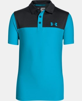 New Arrival  Boys' UA Match Play Blocked Polo   $39.99