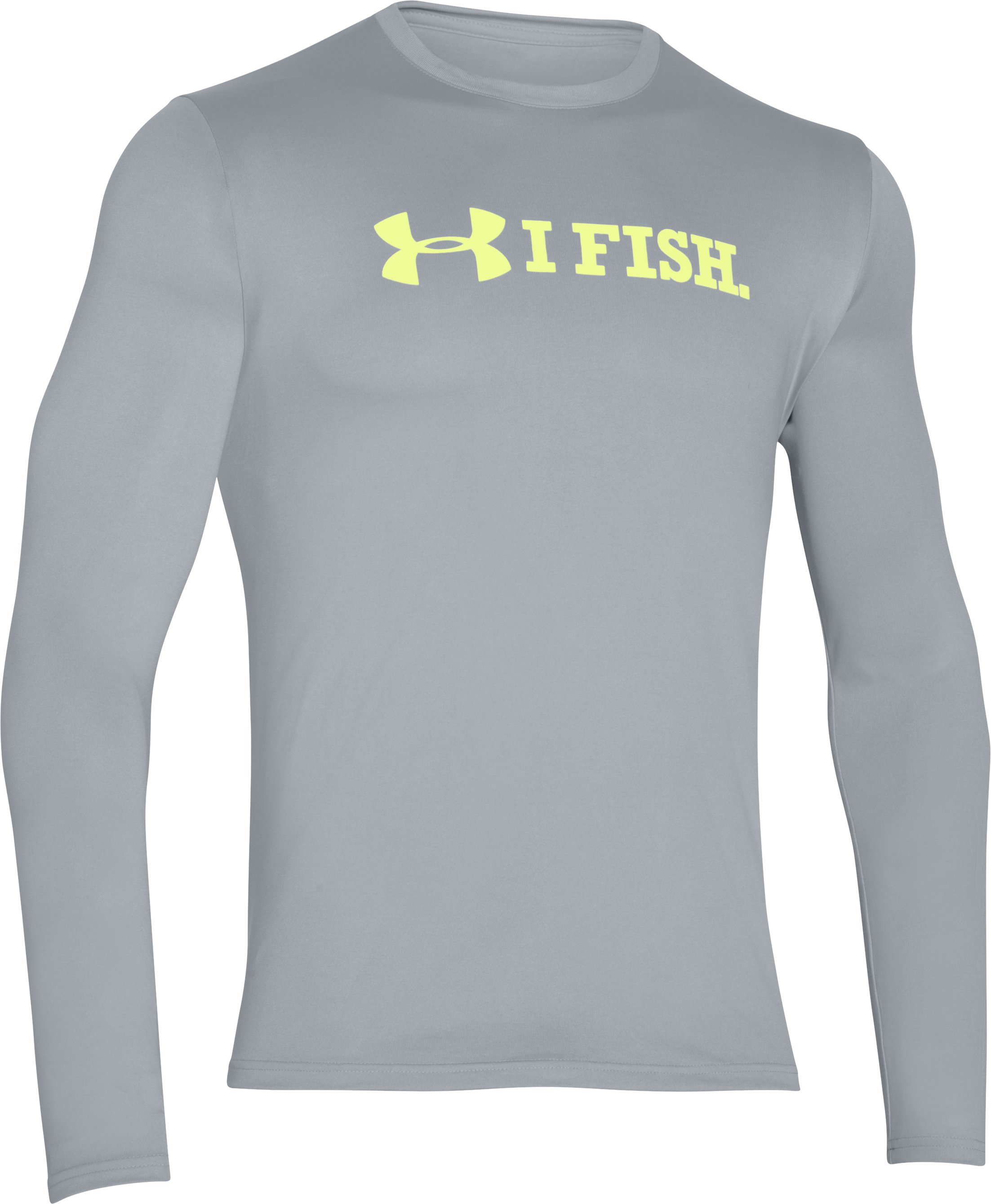 Men's UA I Fish Long Sleeve T-Shirt, AMALGAM GRAY