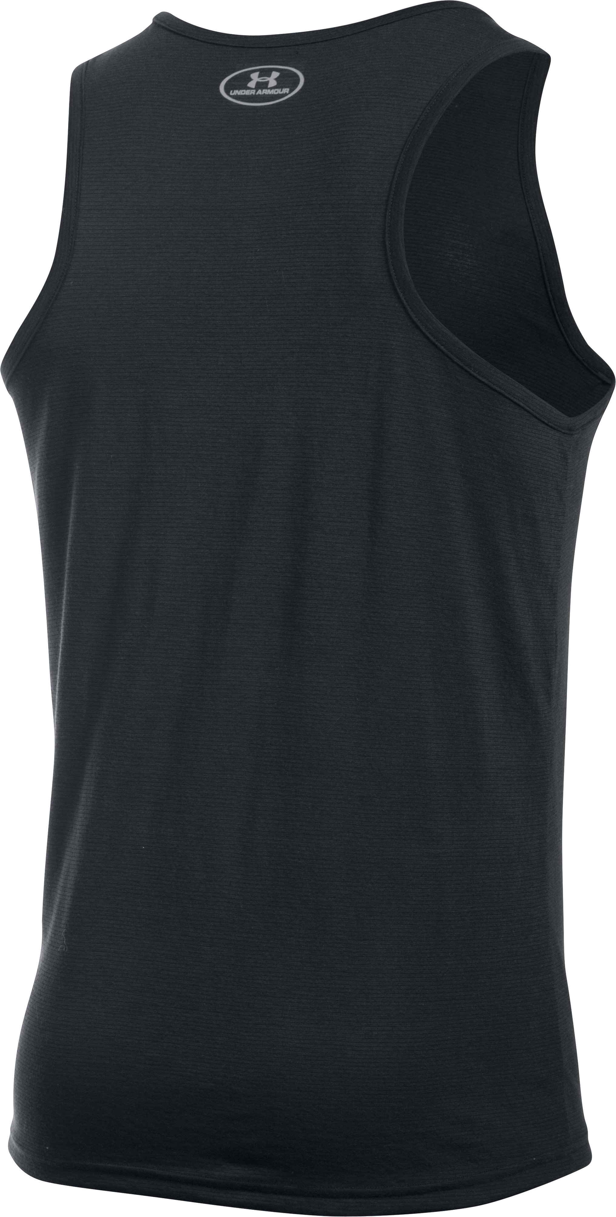 Men's UA Threadborne Streaker Singlet, Black ,