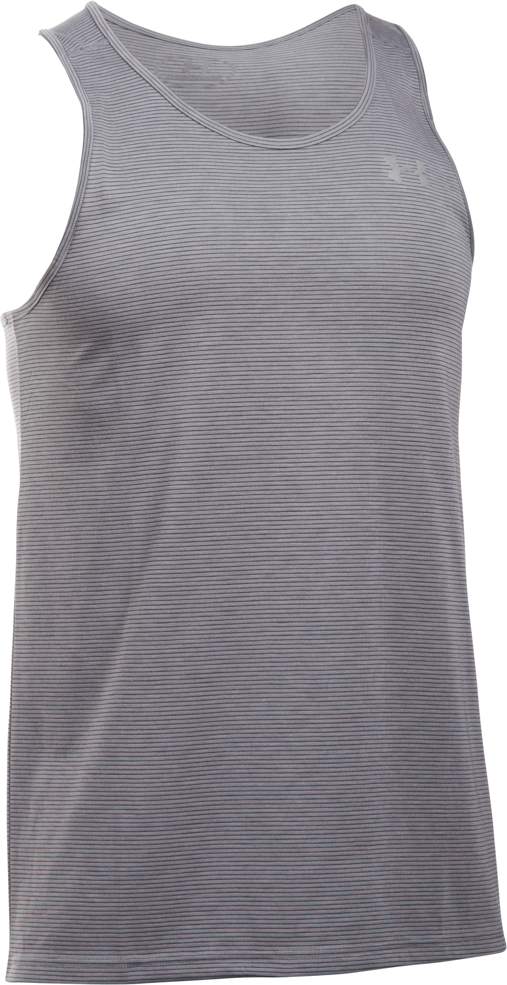 Men's UA Threadborne Streaker Singlet, True Gray Heather, undefined