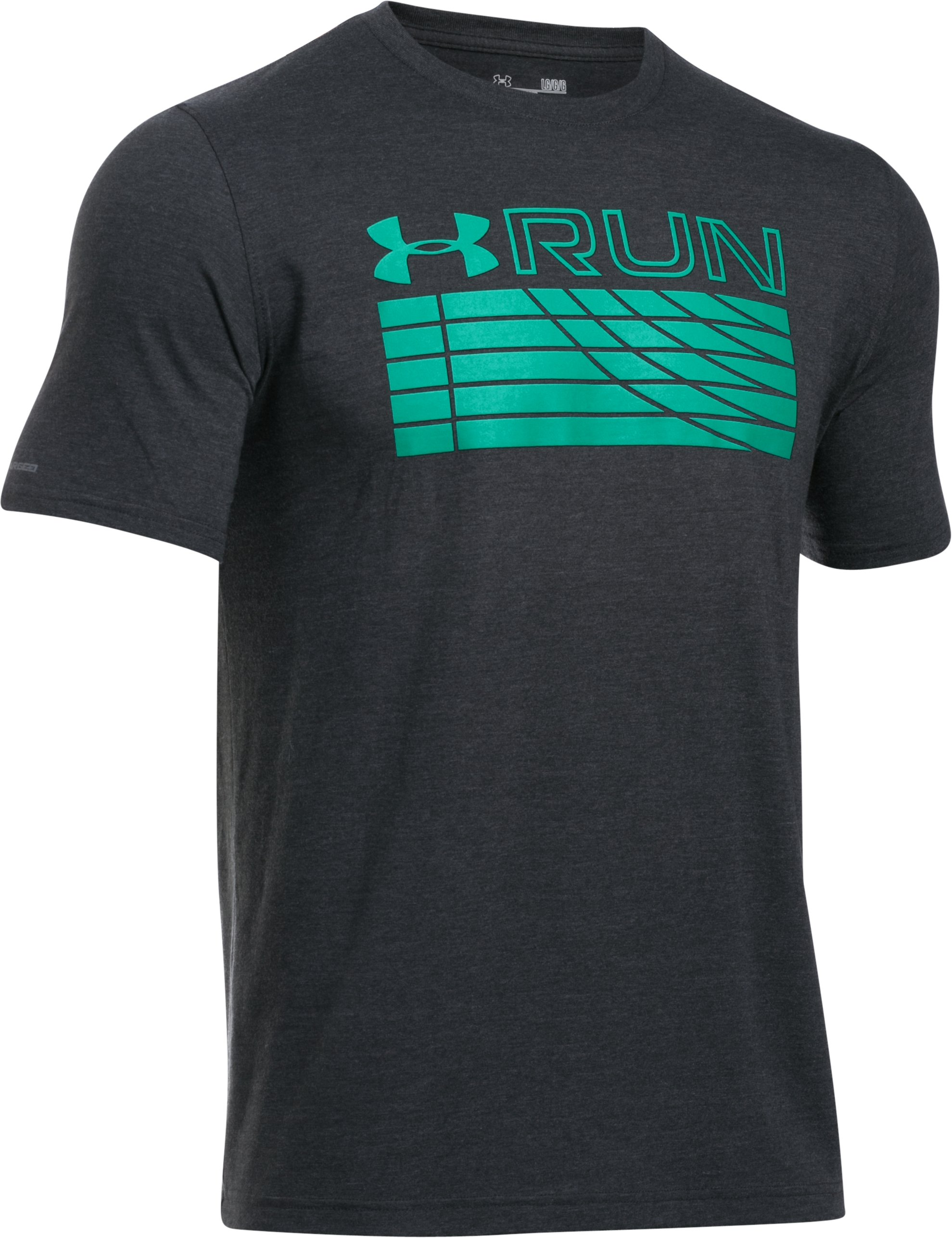 Men's UA Run Track T-Shirt, ANTHRACITE