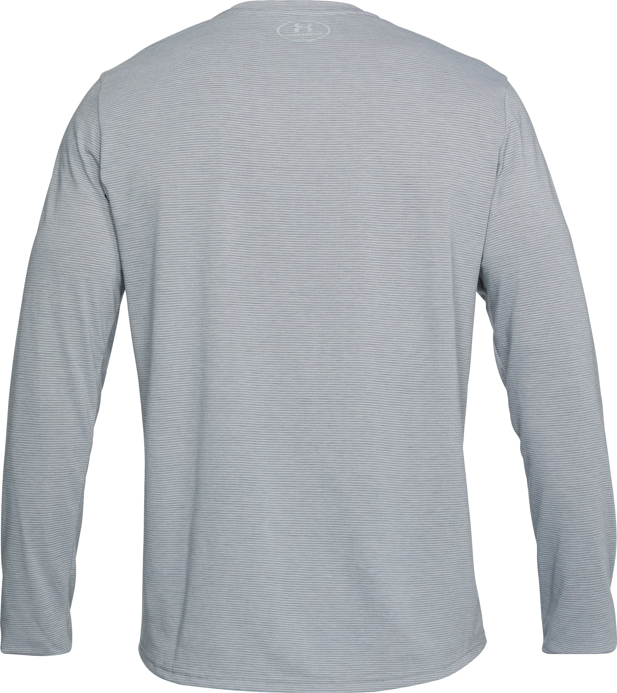 Men's UA Streaker Long Sleeve, STEEL LIGHT HEATHER,