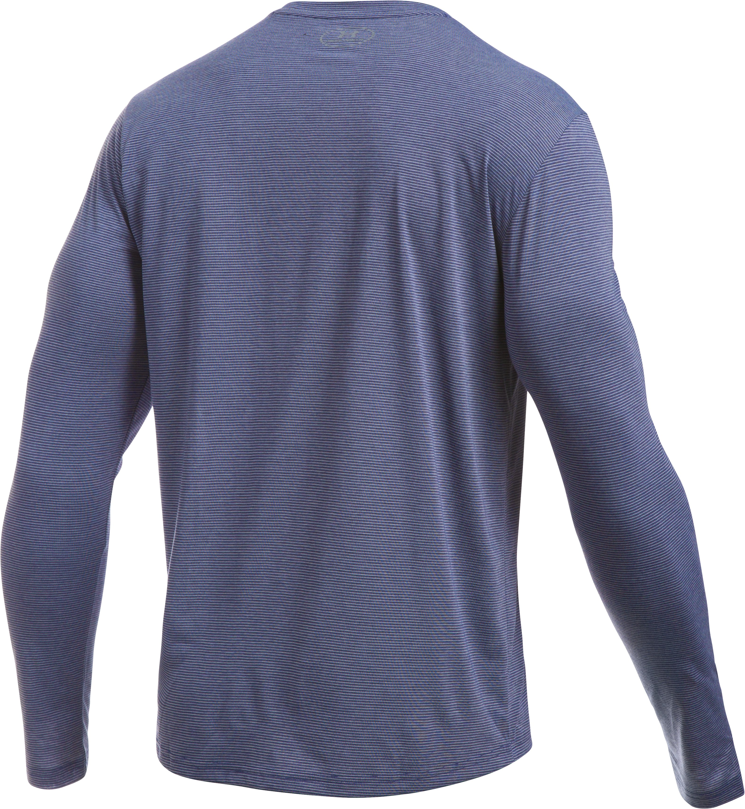 Men's UA Threadborne Streaker Long Sleeve, Midnight Navy, undefined