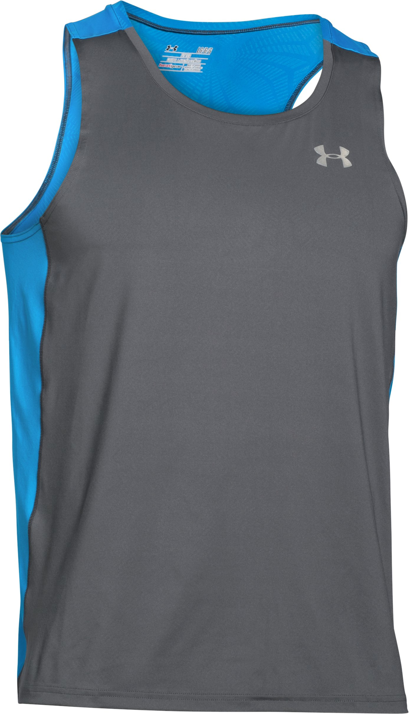 Men's UA CoolSwitch Run Singlet, Graphite