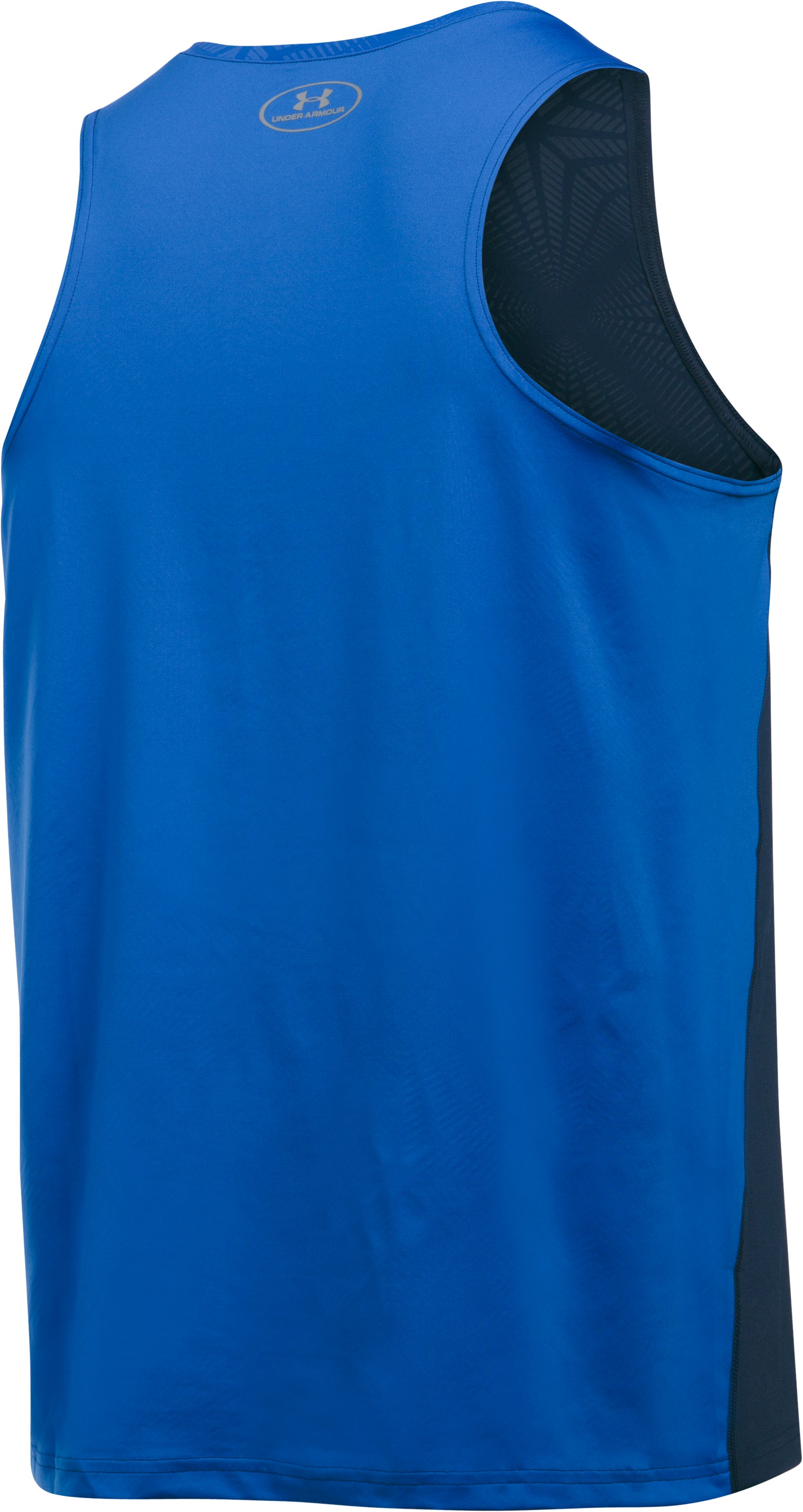 Men's UA CoolSwitch Run Singlet, Midnight Navy, undefined