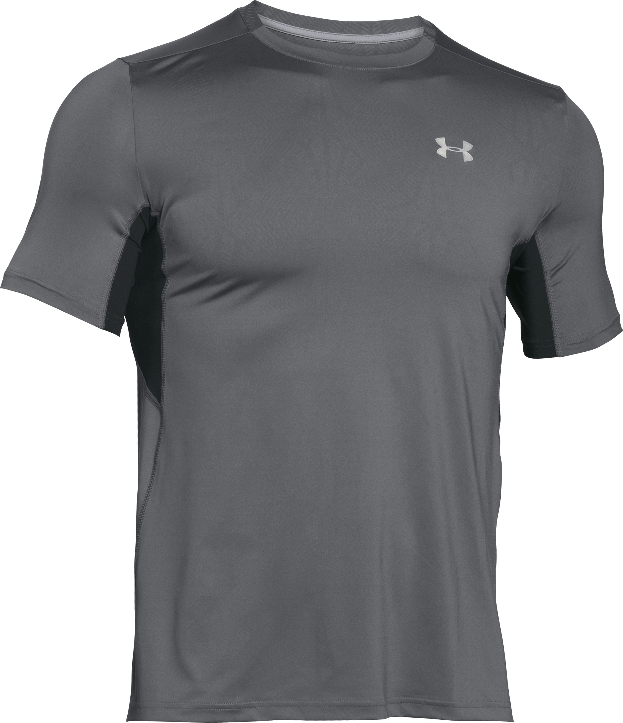 Men's UA CoolSwitch Run Short Sleeve, Graphite
