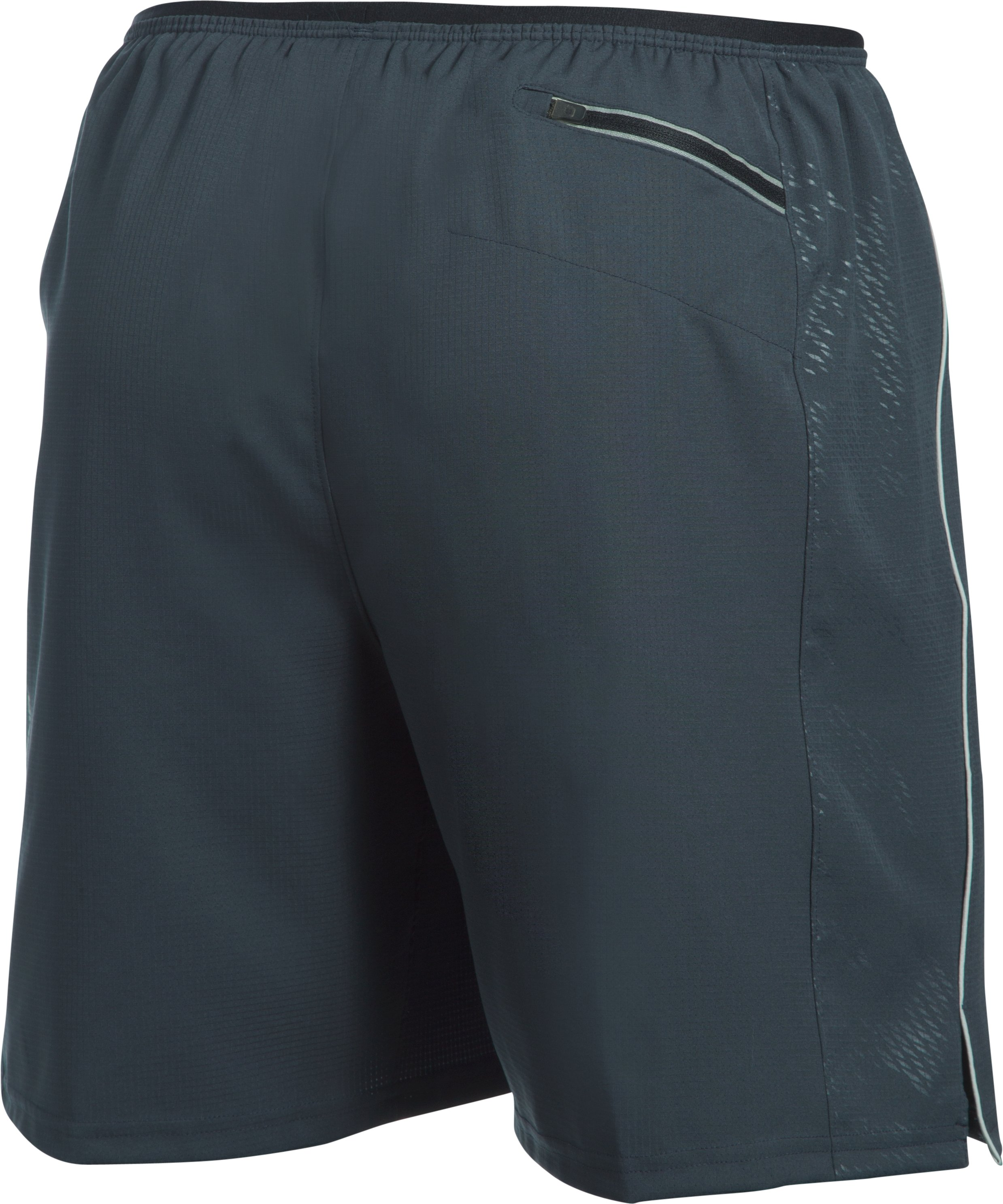 Men's UA CoolSwitch Run Shorts, STEALTH GRAY