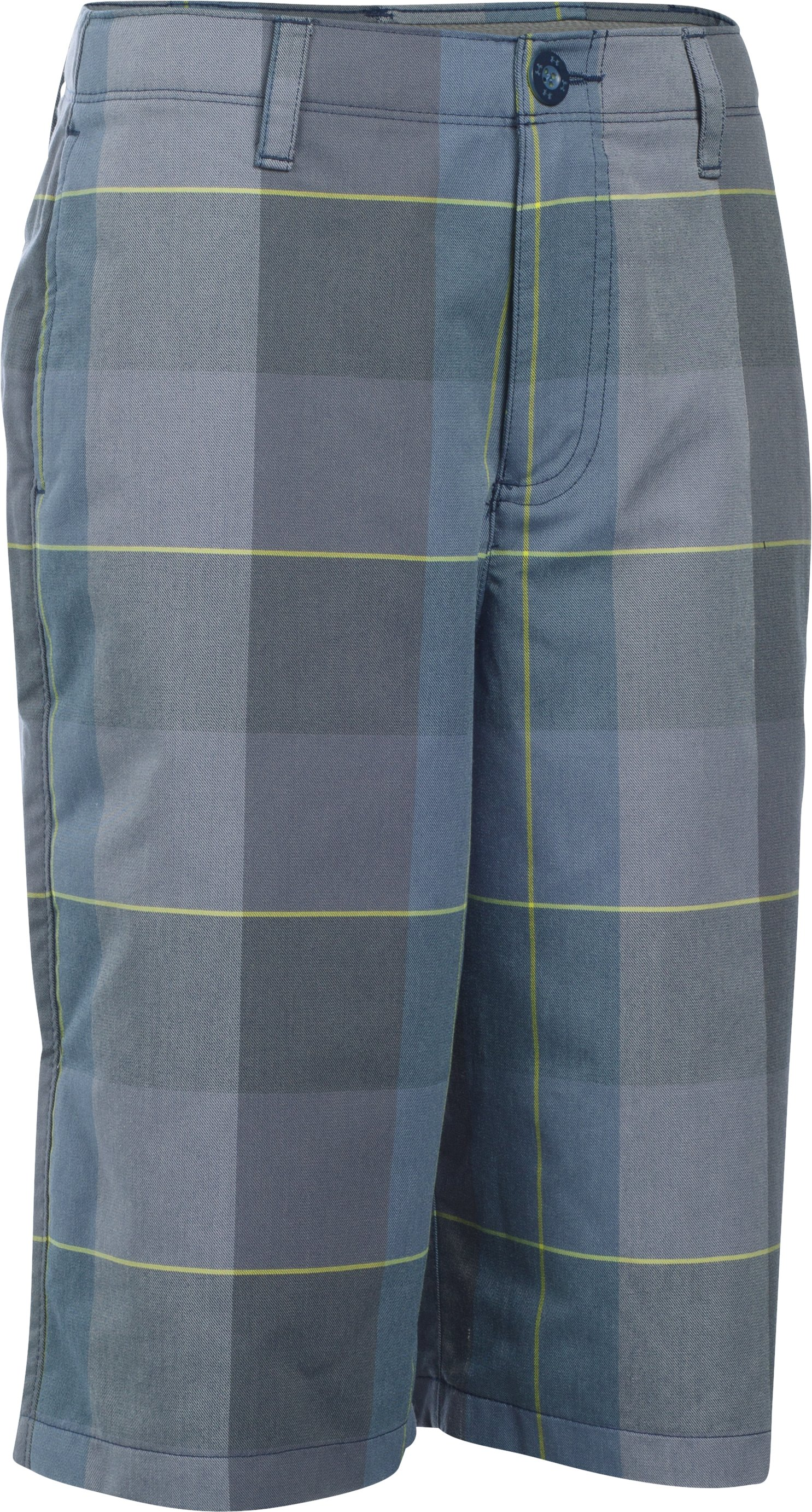 Boys' UA Cross-Hand Yarn-Dye Golf Shorts, NAVY SEAL,