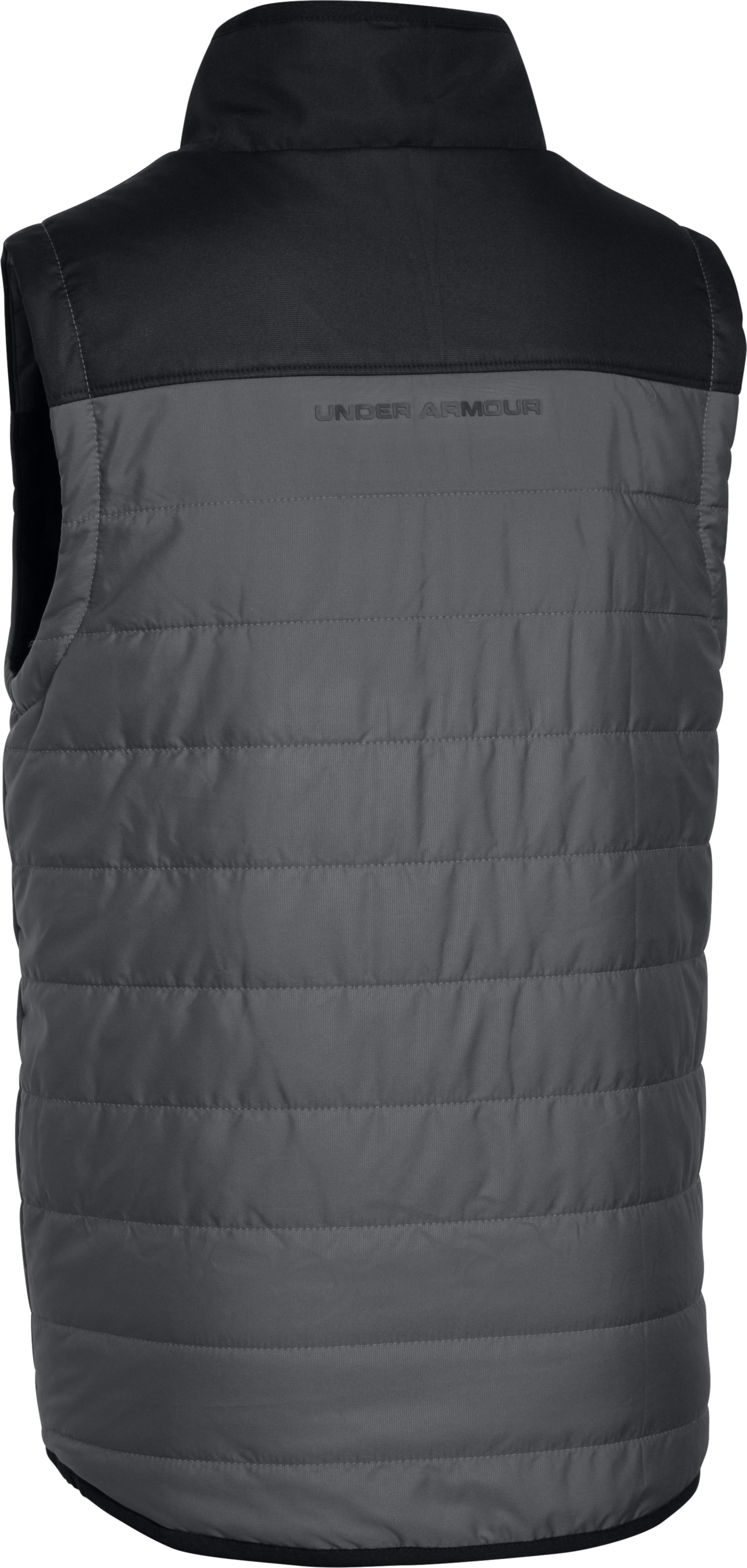 Boys' UA Pure Shot Reversible Puffer Vest, Black , undefined
