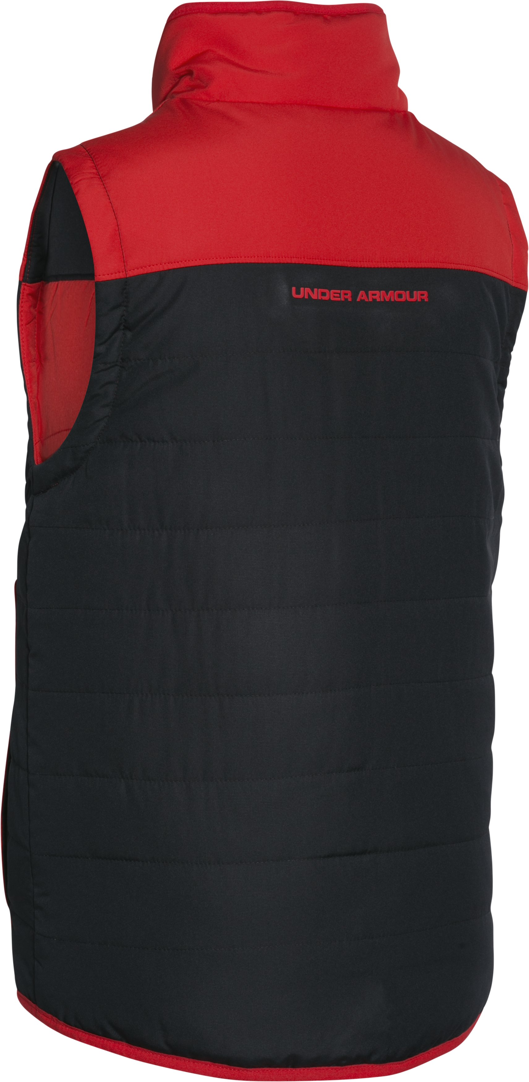 Boys' UA Pure Shot Reversible Puffer Vest, RISK RED,
