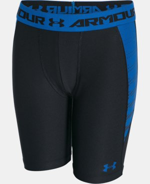 Boys' UA HeatGear® Armour Up Fitted Shorts – Long  LIMITED TIME: FREE U.S. SHIPPING  $18.99