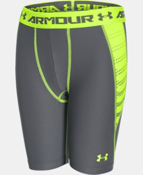 Boys' UA HeatGear® Armour Up Fitted Shorts – Long EXTRA 25% OFF ALREADY INCLUDED  $14.24