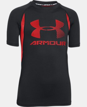 Boys' UA HeatGear® Armour Up Digi Fitted Short Sleeve Shirt  4 Colors $22.99