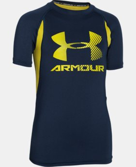 Boys' UA HeatGear® Armour Up Digi Fitted Short Sleeve Shirt  1 Color $22.99