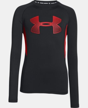 Boys' UA HeatGear® Armour Up Fadeaway Fitted Long Sleeve Shirt  1 Color $26.99