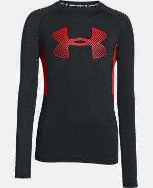 Boys' UA HeatGear® Armour Up Fadeaway Fitted Long Sleeve Shirt LIMITED TIME: FREE U.S. SHIPPING 3 Colors $20.99