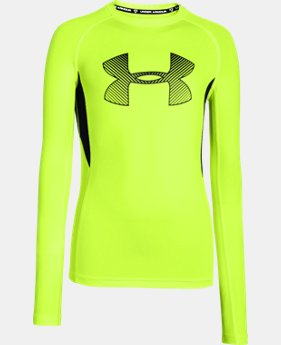 Boys' UA HeatGear® Armour Up Fadeaway Fitted Long Sleeve Shirt   $15.74 to $20.24