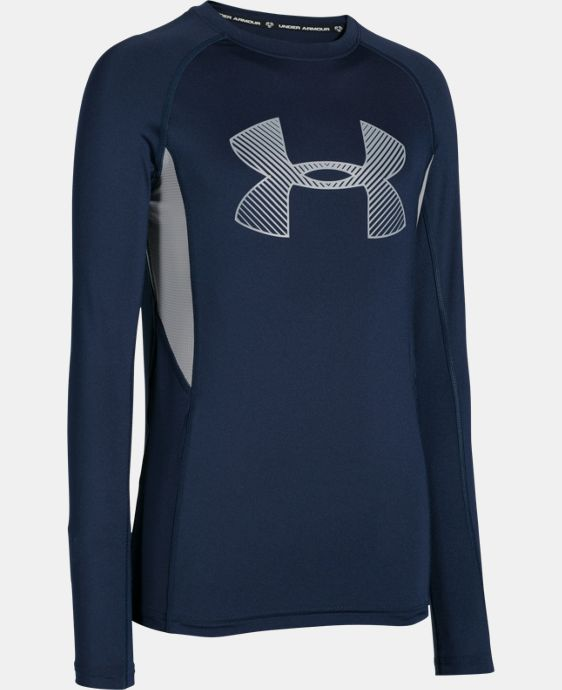 Boys' UA HeatGear® Armour Up Fadeaway Fitted Long Sleeve Shirt LIMITED TIME: FREE U.S. SHIPPING 1 Color $20.99
