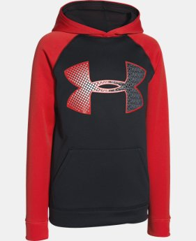 Boys' UA Storm Armour® Fleece Jumbo Logo Hoodie  2 Colors $37.99