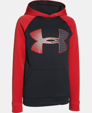 New Arrival  Boys' UA Storm Armour® Fleece Jumbo Logo Hoodie LIMITED TIME: FREE SHIPPING 1 Color $44.99