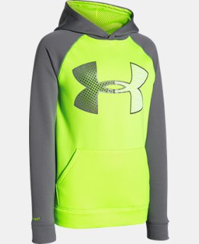 Boys' UA Storm Armour® Fleece Jumbo Logo Hoodie  2 Colors $33.74