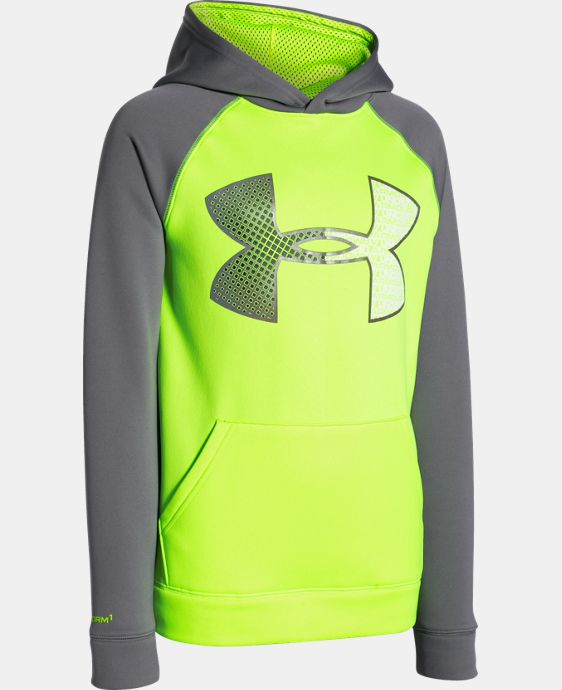 Boys' UA Storm Armour® Fleece Jumbo Logo Hoodie LIMITED TIME: FREE SHIPPING 1 Color $44.99