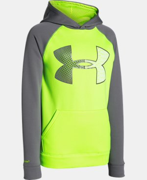 New to Outlet Boys' UA Storm Armour® Fleece Jumbo Logo Hoodie LIMITED TIME: FREE U.S. SHIPPING 1 Color $34.99