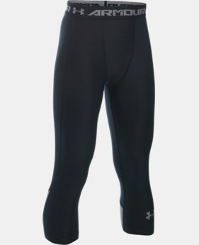 Boys' UA HeatGear® Armour Up Fadeaway Fitted ¾ Leggings   $34.99