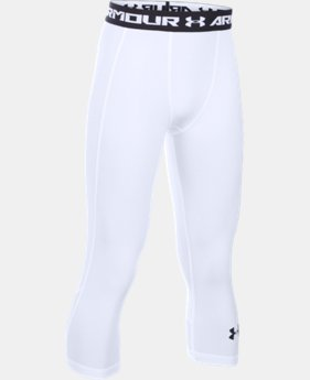 Boys' UA HeatGear® Armour Up Fadeaway Fitted ¾ Leggings LIMITED TIME: FREE U.S. SHIPPING 1 Color $34.99