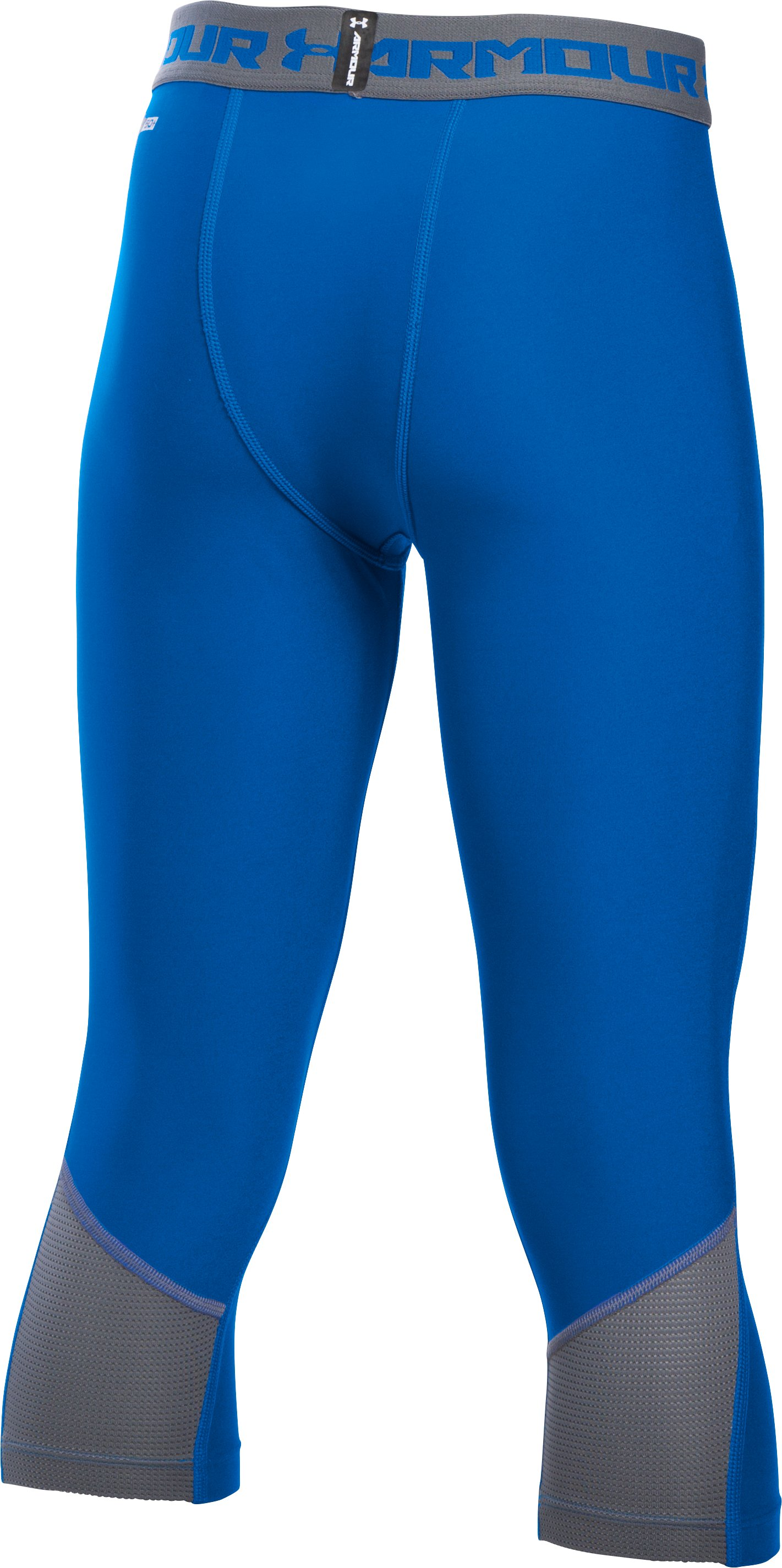 Boys' UA HeatGear® Armour Up Fadeaway Fitted ¾ Leggings, ULTRA BLUE, undefined