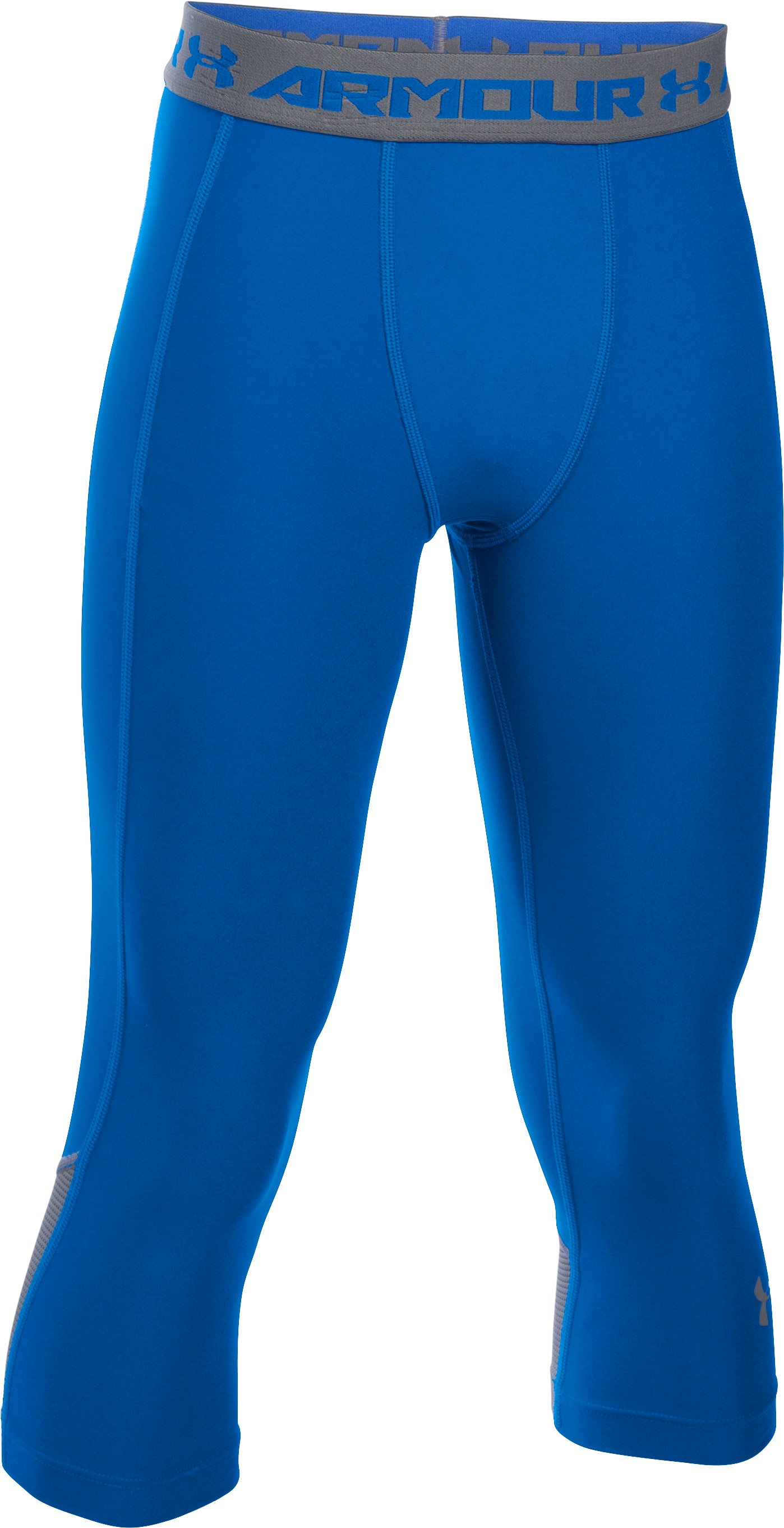 Boys' UA HeatGear® Armour Up Fadeaway Fitted ¾ Leggings, ULTRA BLUE