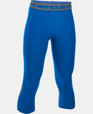 Boys' UA HeatGear® Armour Up Fadeaway Fitted ¾ Leggings  1 Color $34.99