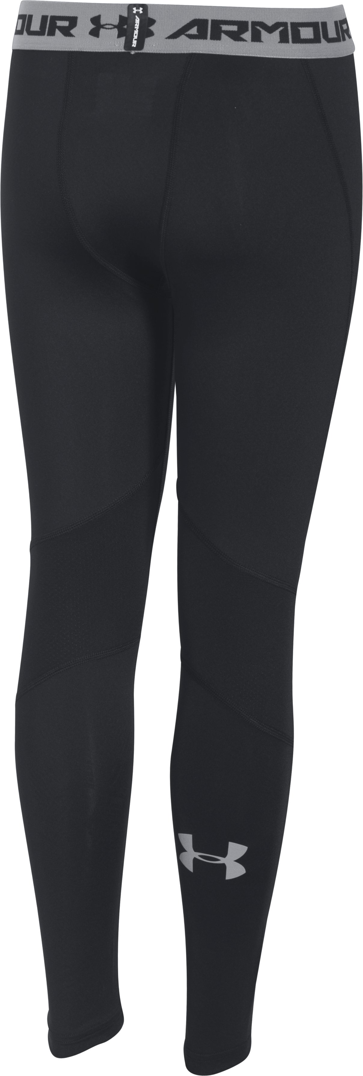 Boys' UA CoolSwitch Fitted Leggings, Black , undefined