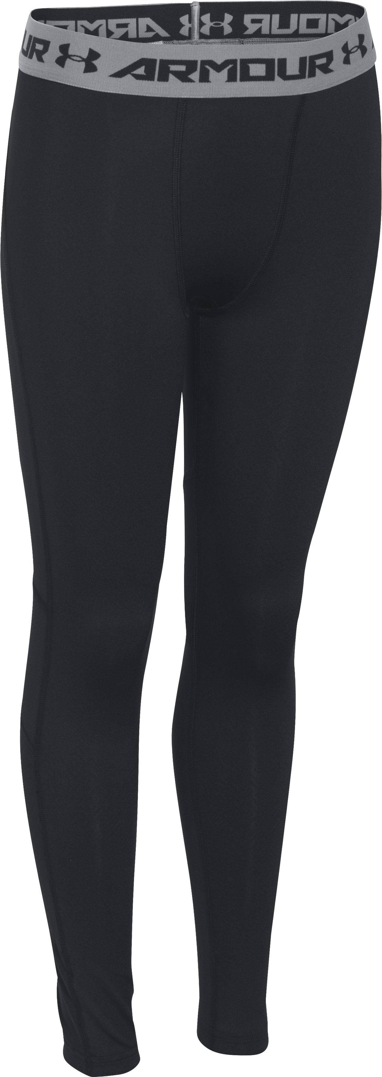 Boys' UA CoolSwitch Fitted Leggings, Black , zoomed image