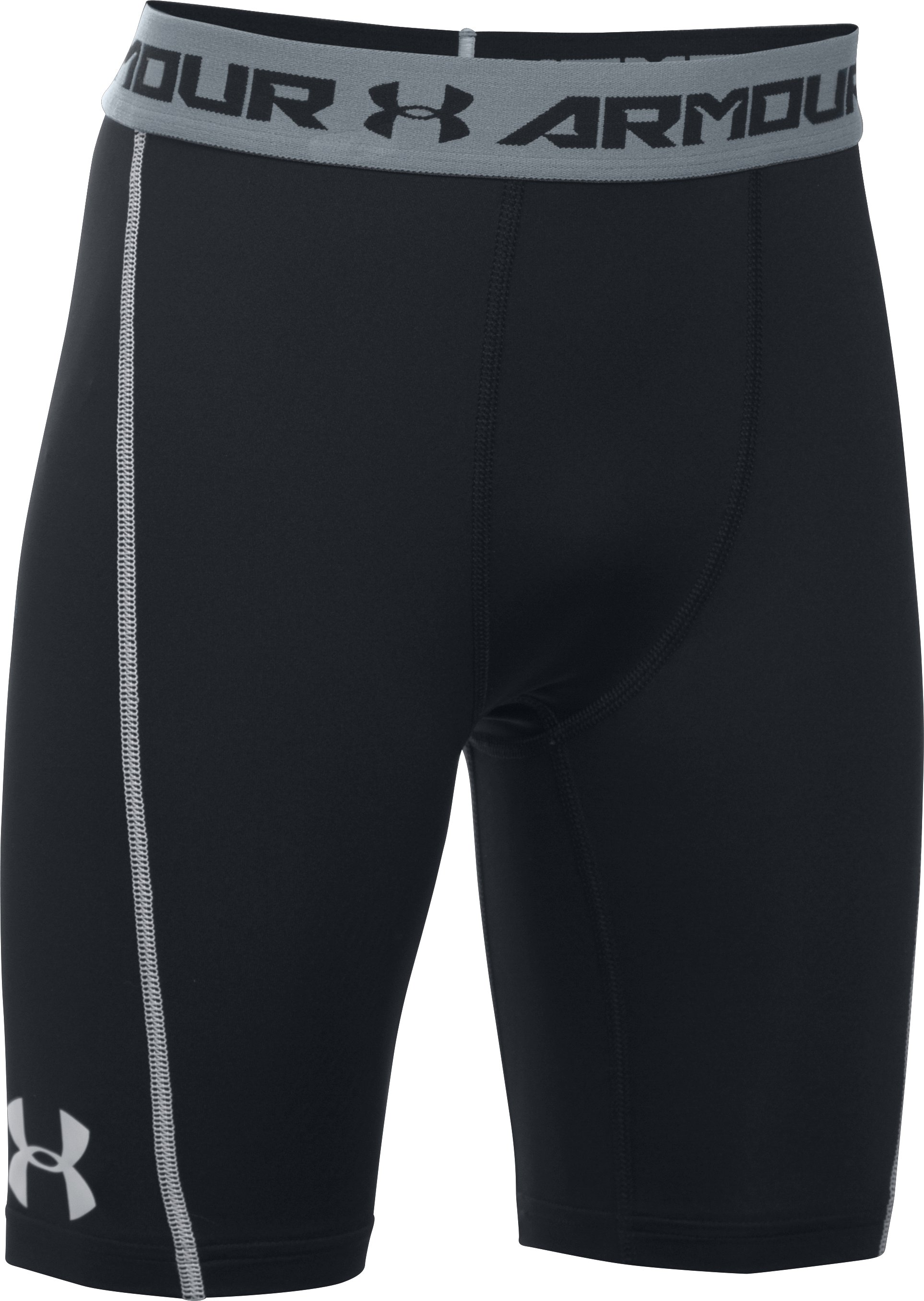 Boys' UA CoolSwitch Fitted Shorts, Black , zoomed image
