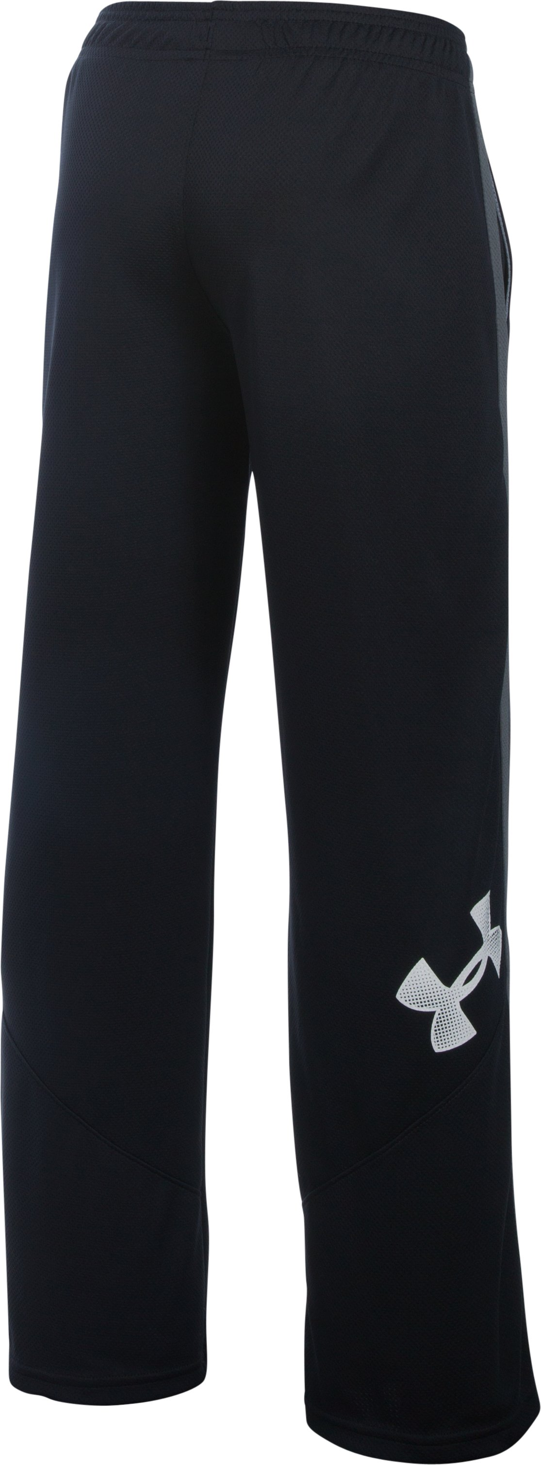 Boys' UA Champ Warm-Up Pants, Black ,