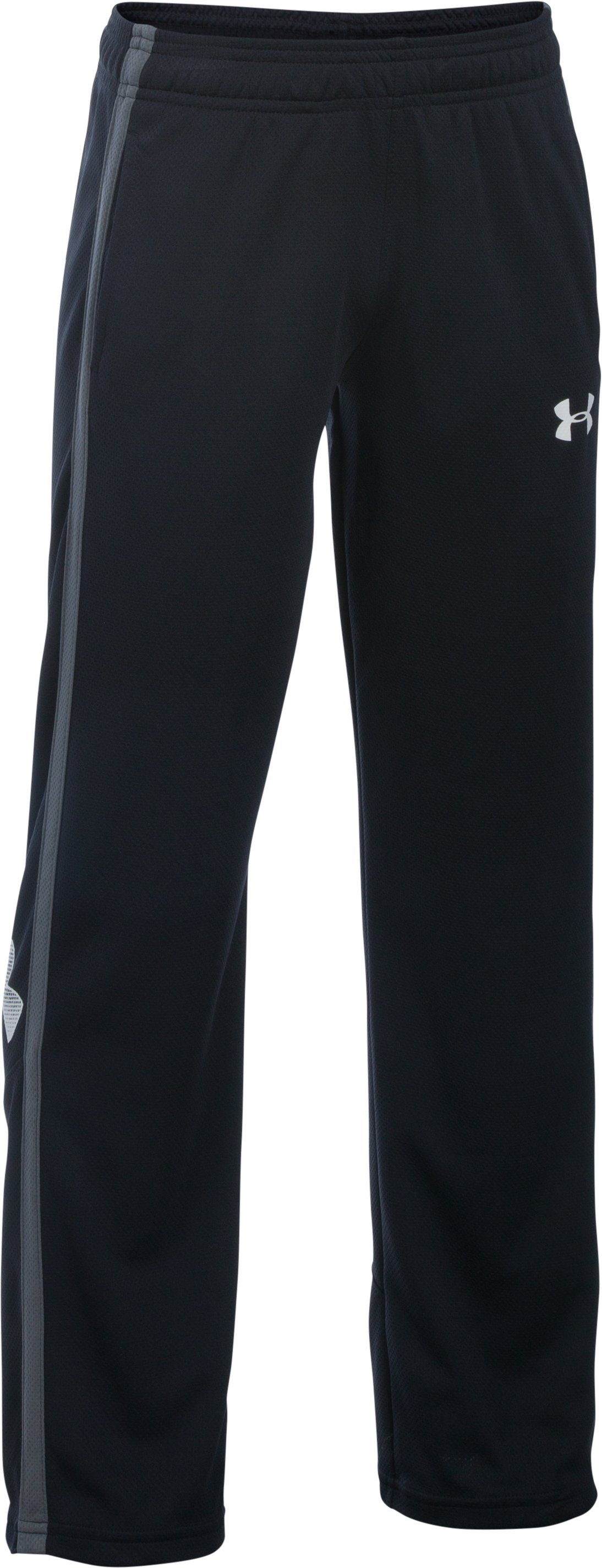 Boys' UA Champ Warm-Up Pants, Black
