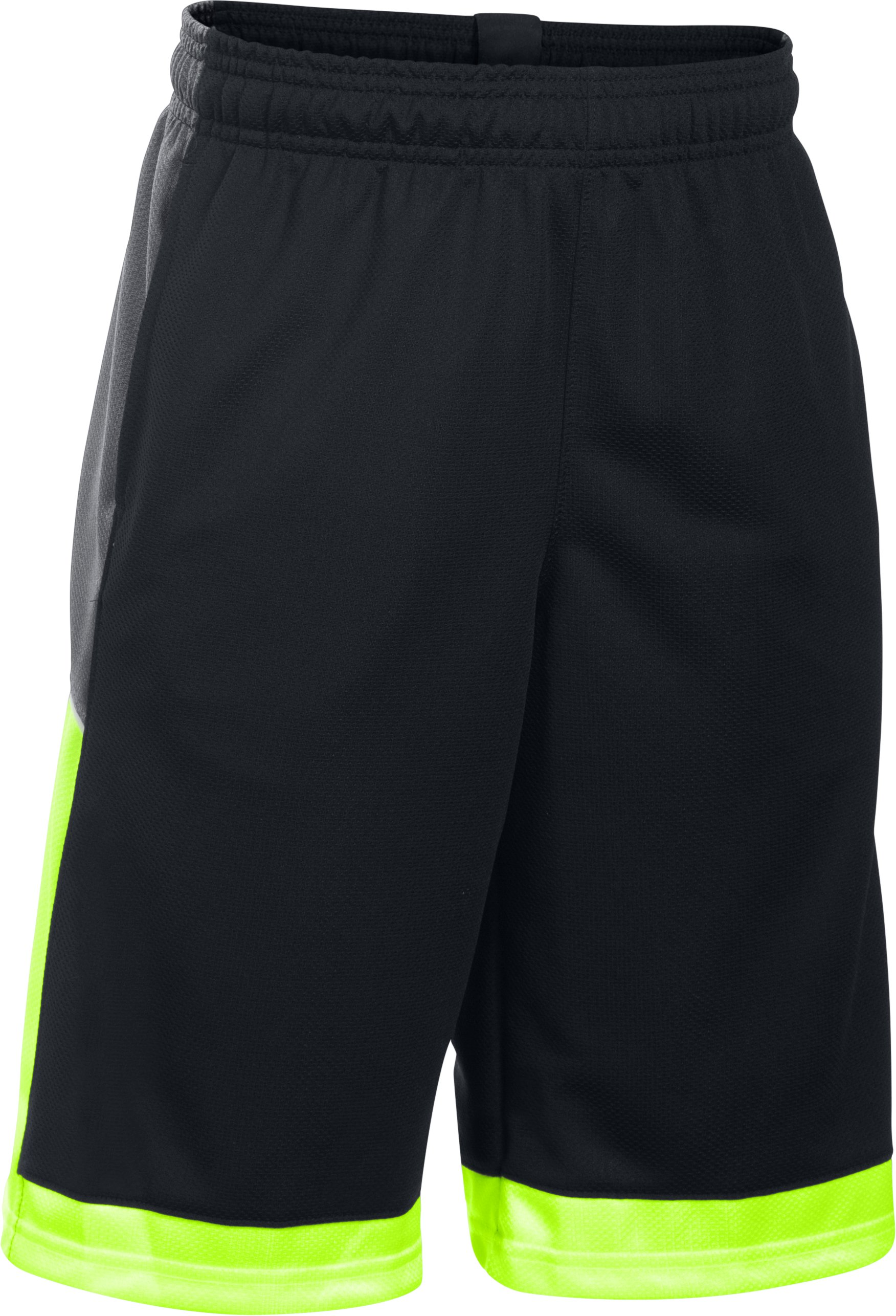 Boys' UA Baseline Basketball Shorts, Black , undefined