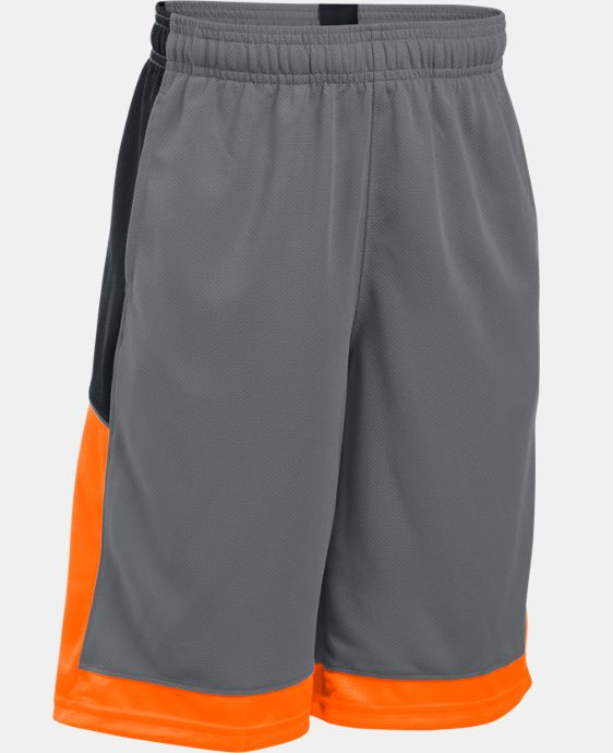 New Arrival  Boys' UA Baseline Basketball Shorts   $29.99