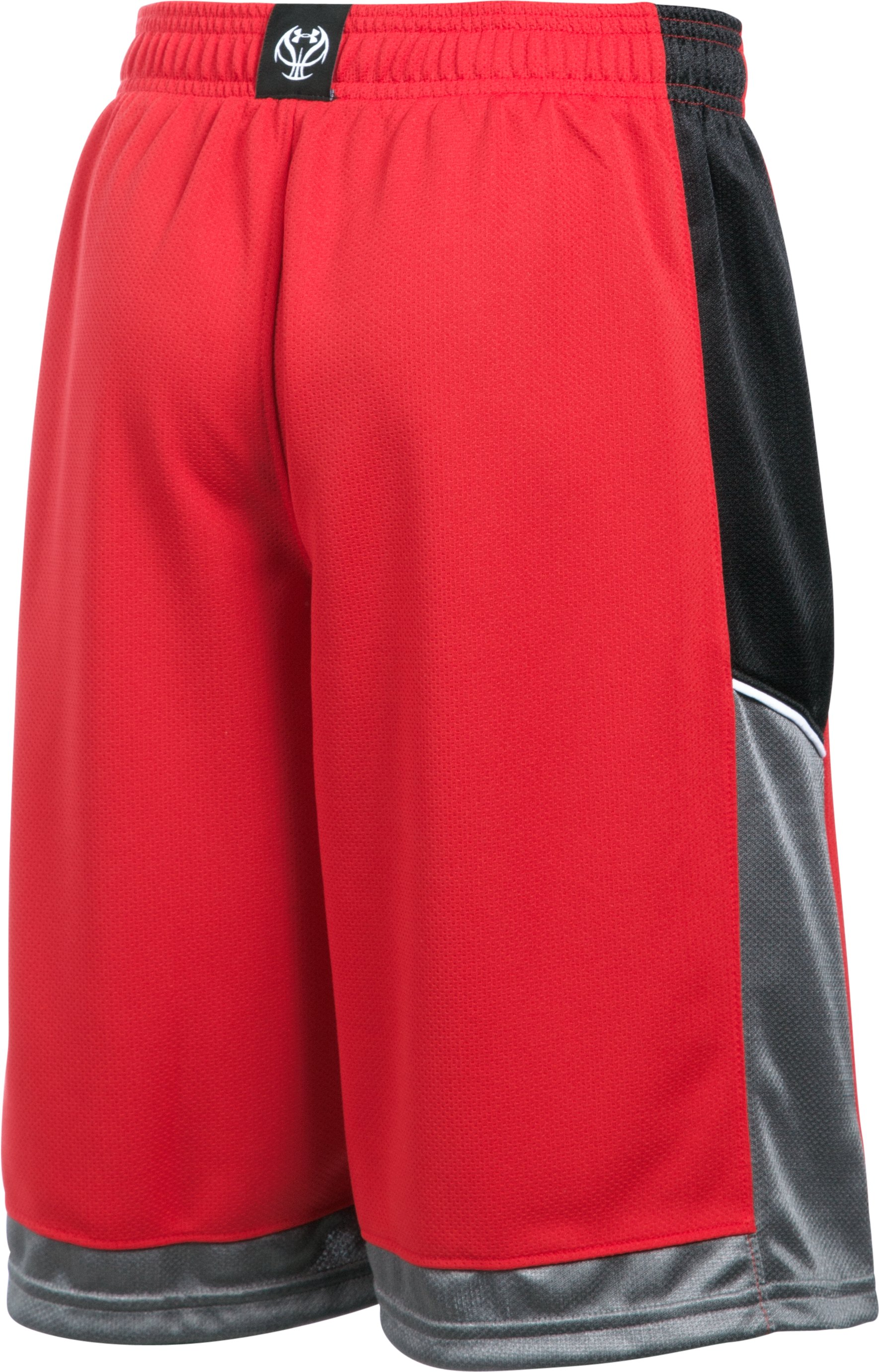 Boys' UA Baseline Basketball Shorts, Red, undefined