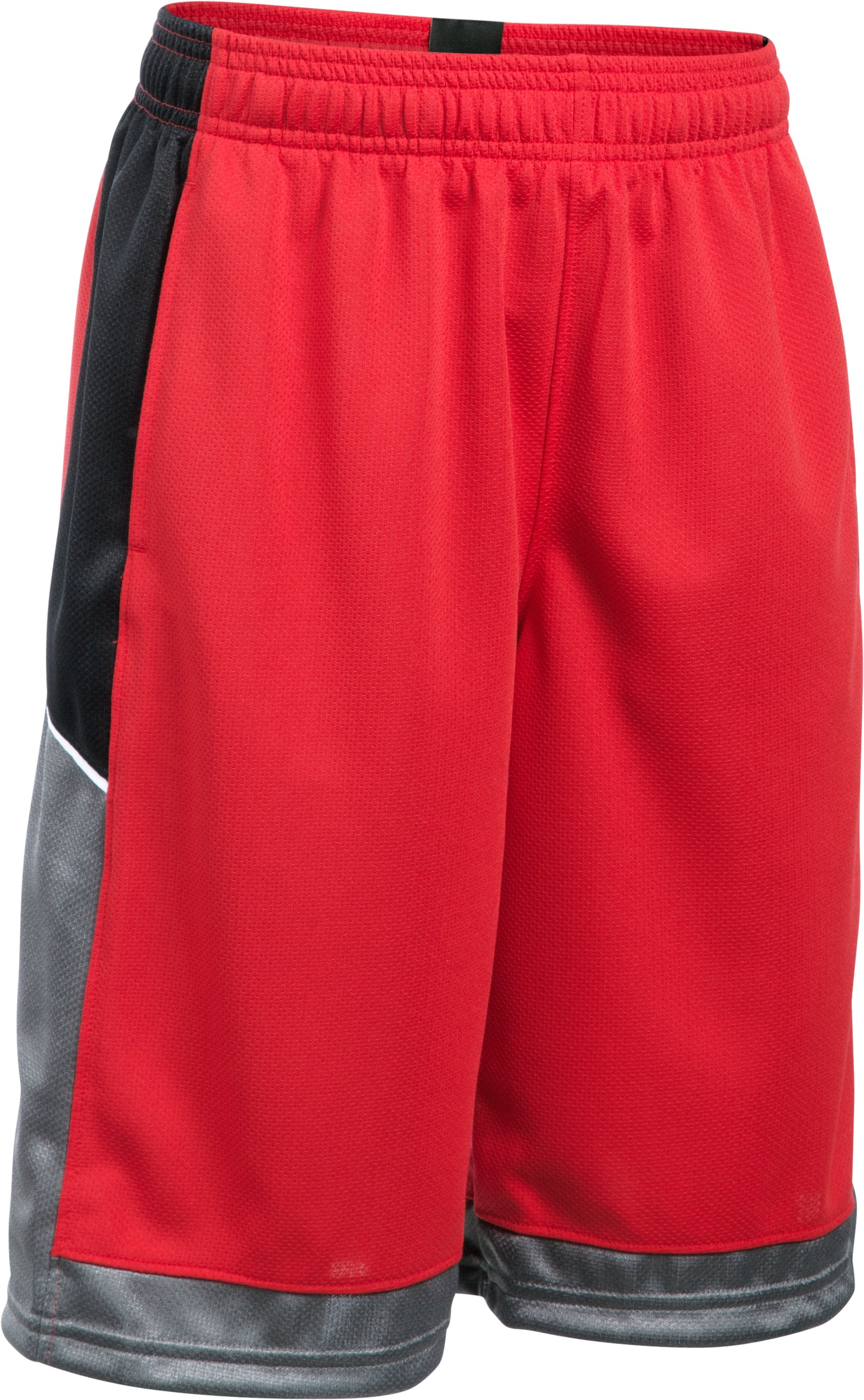 Boys' UA Baseline Basketball Shorts, Red, zoomed image