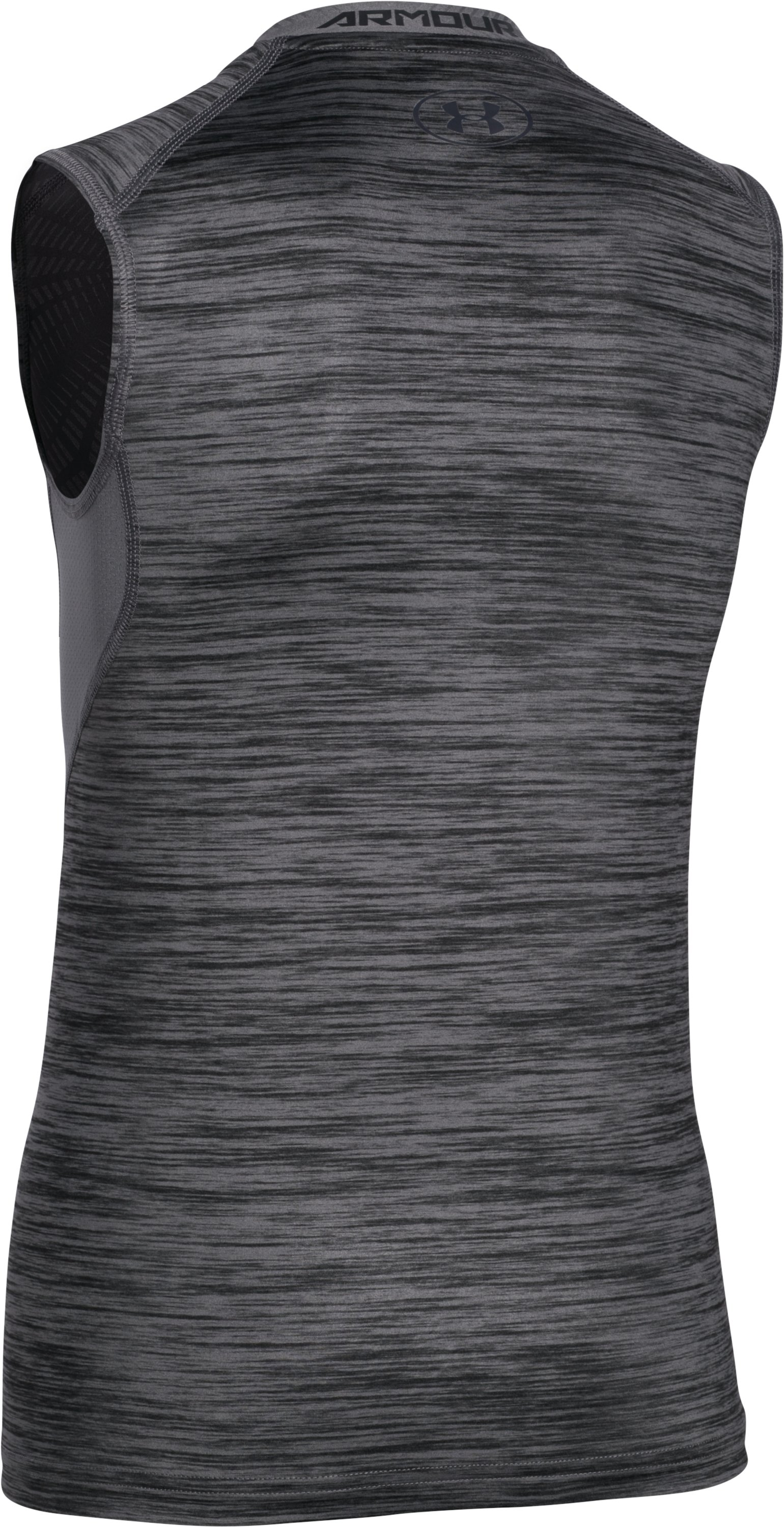 Boys' UA CoolSwitch Fitted Tank, Graphite